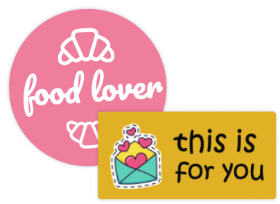 Classic Sticker with Text & Symbol